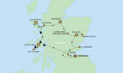 Map of A Scottish Journey | BRT