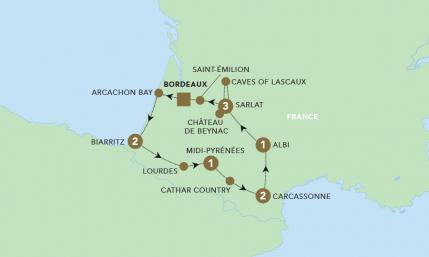 Map of A Taste of Bordeaux | BRT