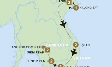Map of Vietnam and Cambodia Discovery | Topdeck