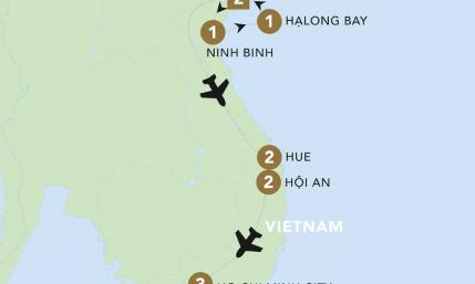 Map of Flavours of Vietnam | BRT