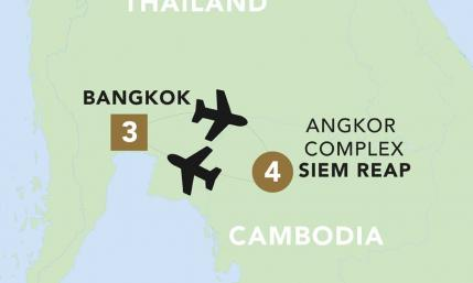 Map of Temples of Thailand & Cambodia 2019-20 | BRT