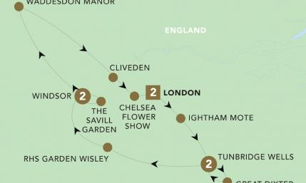 Map of Chelsea Flower Show 2019 | BRT