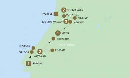 Map of Discover Portugal 2019 | BRT