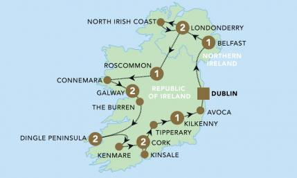 Map of The Emerald Isle 2020 | BRT