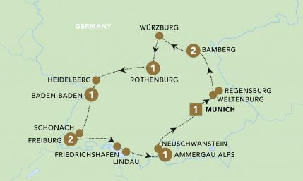 A Journey through Germany Map