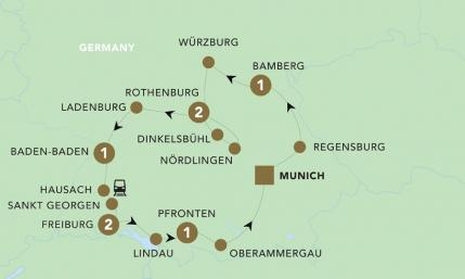 Map of A Journey through Germany 2019 | BRT