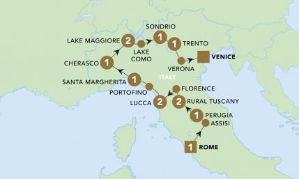 Italian Indulgence Map