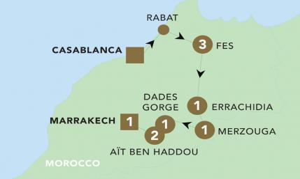 Map of Majestic Morocco 2019 | BRT