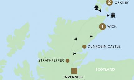 Map of Orkney & the Highlands 2019 | BRT
