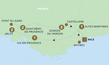 Map of Provence & the French Riviera 2019 | BRT