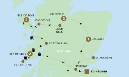 Map of A Scottish Journey 2019 | BRT