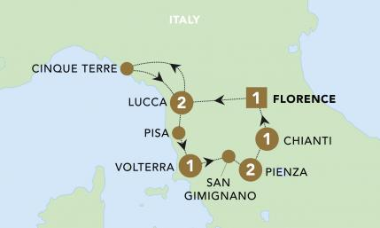 Tuscan Treats Map