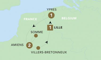 Map of Anzacs on the Western Front 2019 | BRT