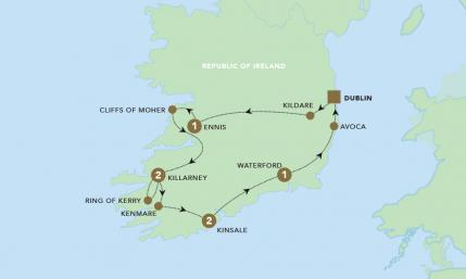 Map of Corners of Southern Ireland 2020 | BRT