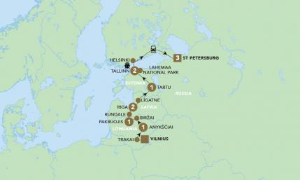 Map of Highlights of the Baltics | BRT