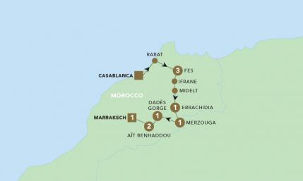 Map of Majestic Morocco | BRT