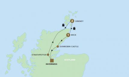 Map of Orkney & the Highlands | BRT
