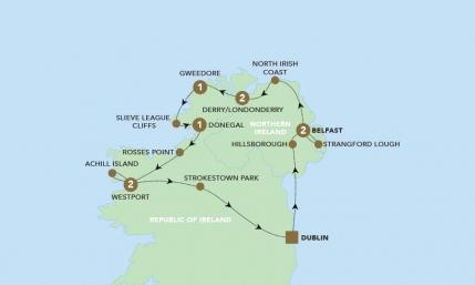 Map of The Headlands of Ireland