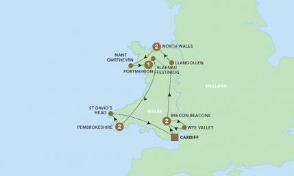 Map of The Wonders of Wales | BRT
