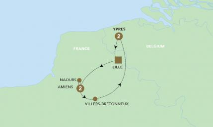 Map of WW1 Battlefields | BRT